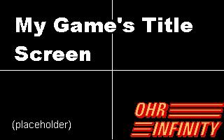 OHRi Tutorial Game