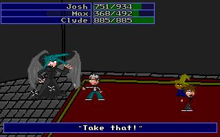 Here you see the final confrontation between Josh and his friends with the evil vampire. The vampire had several redesigns before looking the way he does today.