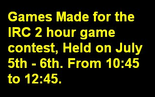 2 Hour Game Contest Games